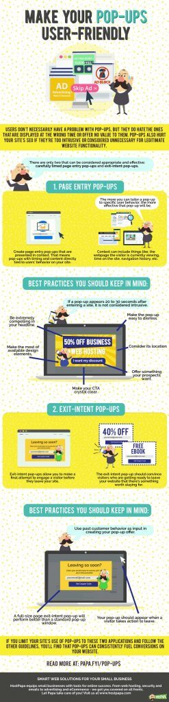 How to make your pop-ups user-friendly