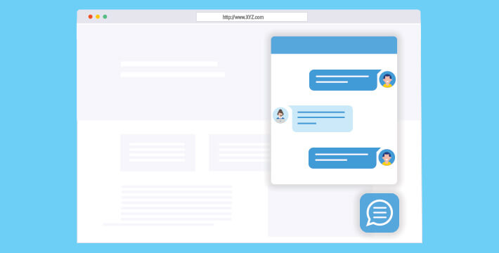 Consider using a live chat to improve your customer service