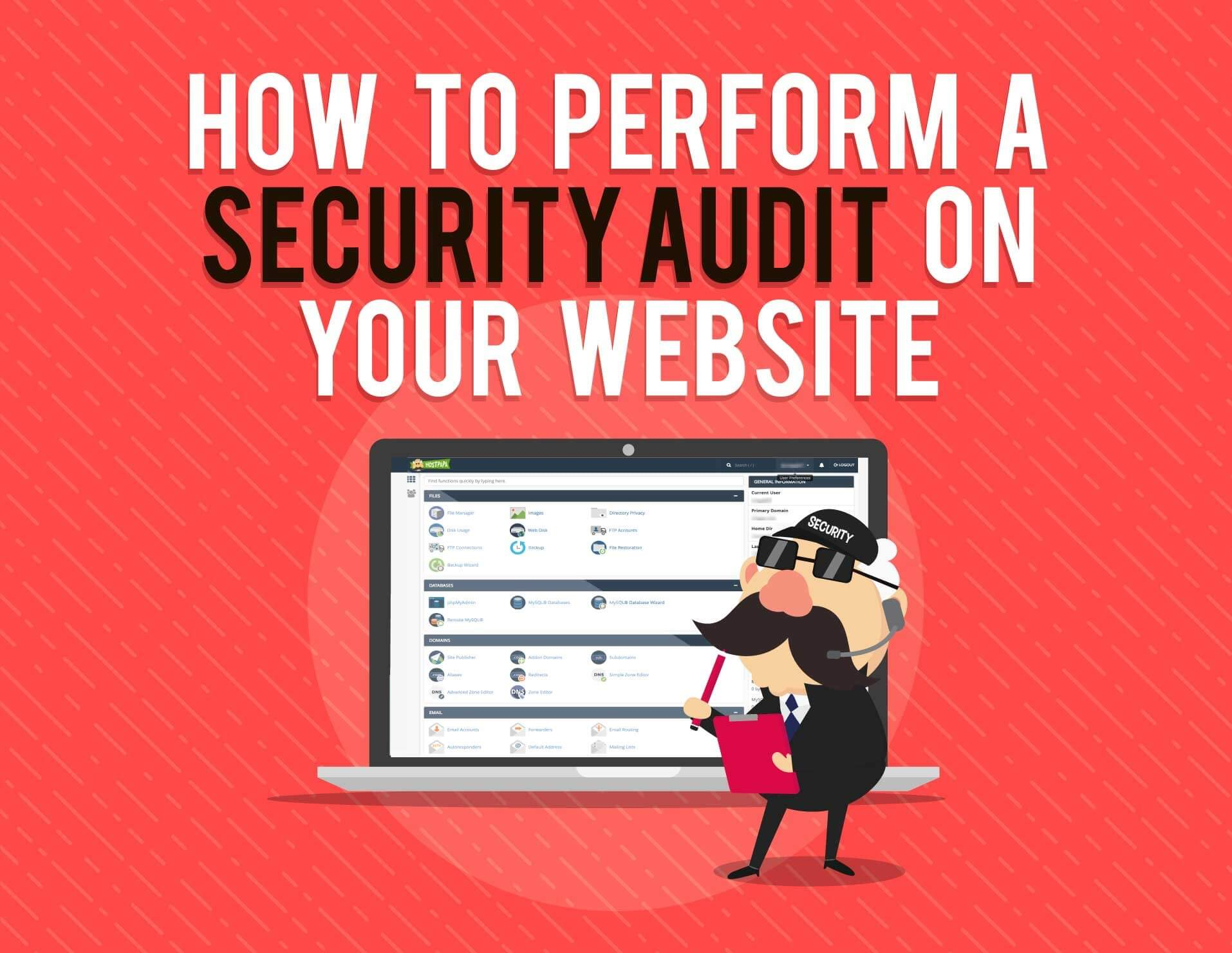 Header for the infographic about performing website security audit