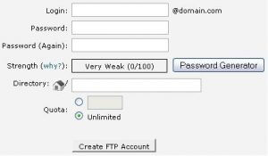 How to create and access additional FTP accounts