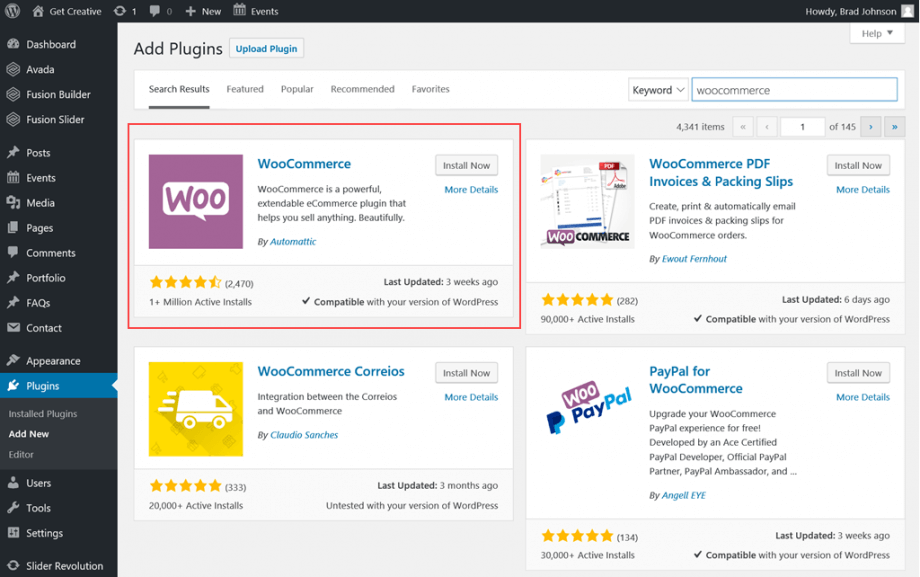Wordpress Plugin section