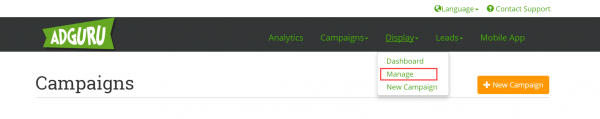 Manage Campaigns