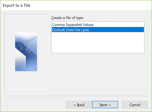 Outlook Data File