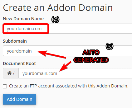 Learn how to set up an addon domain with cPanel